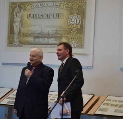 "Parodos ""MONOlitas"" iniciatoriai V. Litvaitis ir A. Sendrauskas."