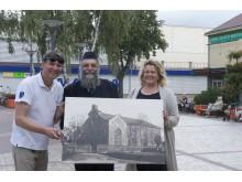 Fotomenininkas Adas Sendrauskas parodė sinagogos fotografiją.