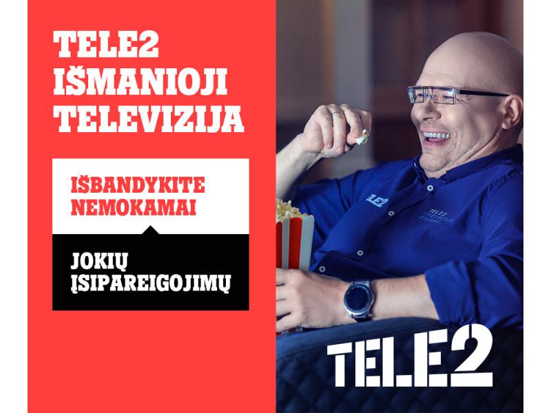 """Nauji """"Tele2"""" pasiūlymai: nuo išmaniosios televizijos iki nuolaidų telefonams ir eSIM laikrodžiams"""