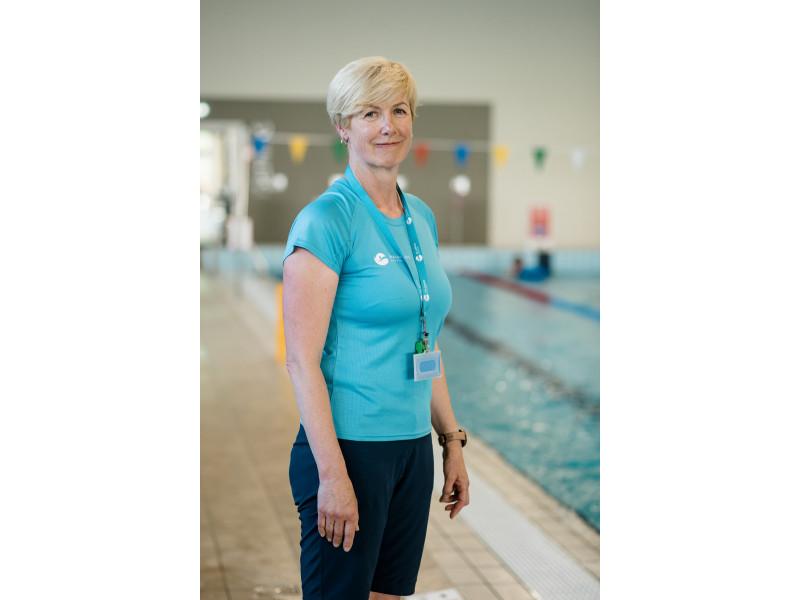 Palanga naujaisiais namais tapo ir plaukimo takelių vunderkindo, plaukiko Dano Rapšio pirmajai trenerei Židrūnei Budrienei. LT-FOTO