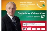 Balsuokite už TS-LKD sąrašo 67-ąjį numerį Gediminą Valinevičių