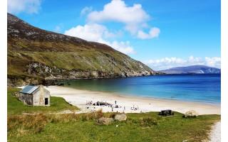Airijos paplūdimiai nėra tokie užpildyti kaip Palangos paplūdimys net ir karščiausiomis dienomis, bet čia švariau