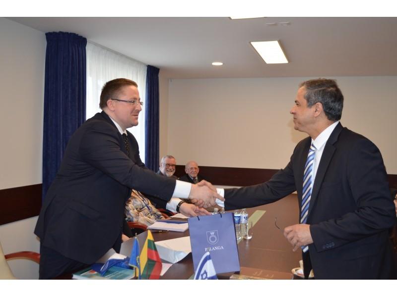 Vakar Palangoje lankėsi Izraelio valstybės nepaprastasis ir įgaliotasis ambasadorius Lietuvai Amir Maimon.