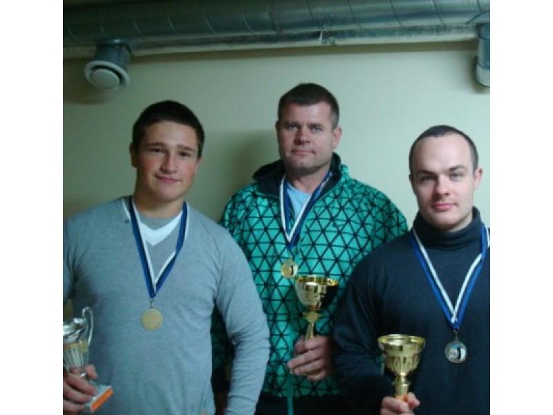 R. Skripkauskas, V. Juknevičius ir T. Ektis į Palangą parvežė visų spalvų medalius.