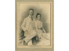 Grafas Feliksas Tiškevičius su žmona Antanina. Iš Kretingos muziejaus ikonografijos rinkinio.