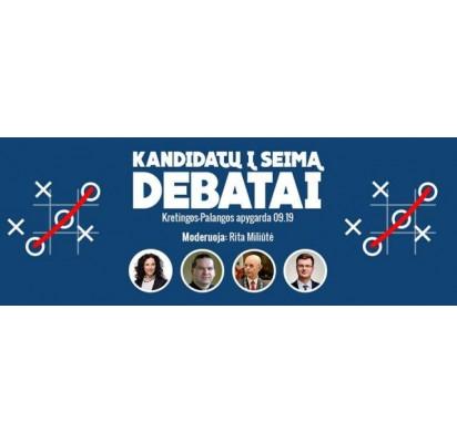 Šiandien, 17 val. 30 min., vyks kandidatų Kretingos-Palangos rinkimų apygardoje debatai