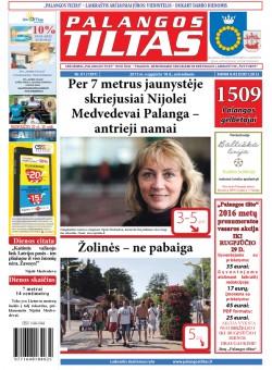 Palangos tilto laikraštis, Data: 2015-08-17, Numeris: 60 (1396)