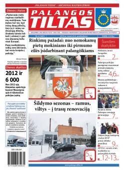 Palangos tilto laikraštis, Data: 2019-02-09, Numeris: 6 (1681)