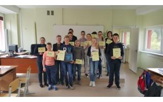 """Informacinių technologijų konkursas """"Baltijos"""" mokykloje"""