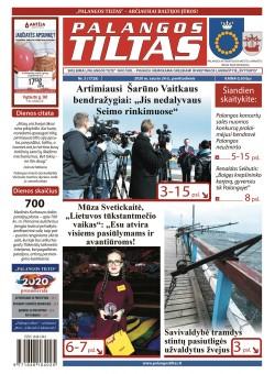 Palangos tilto laikraštis, Data: 2020-01-24, Numeris: 03 (1729)
