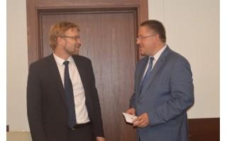 Su sveikatos apsaugos ir darbo ministru Savivaldybėje aptarti socialiniai klausimai
