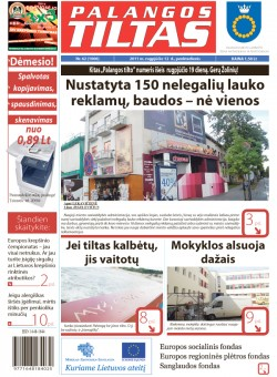 Palangos tilto laikraštis, Data: 2011-08-11, Numeris: 62 (1006)