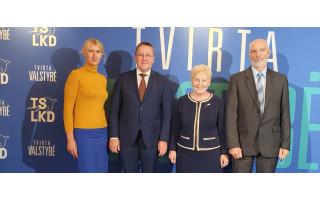 Gabrielius Landsbergis patvirtintas savo paskutinei kadencijai TS-LKD pirmininko pareigose, Šarūnas Vaitkus į postus nepretendavo