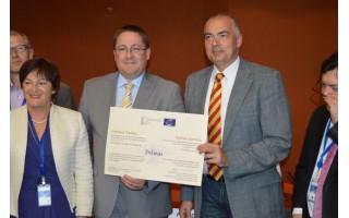 Palangai Strasbūre įteiktas Europos diplomas