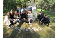 """Gimnazistai – pilietinės iniciatyvos """"Atminties kelias"""" dalyviai"""