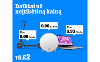 """Nauji """"Tele2"""" pasiūlymai: nuolaidos išmaniems daiktams, televizijai ir išmanus paplūdimių žemėlapis"""