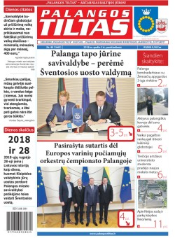 Palangos tilto laikraštis, Data: 2018-10-04, Numeris: 40(1571)