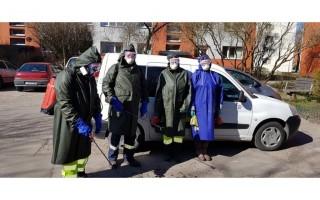 """UAB """"Palangos komunalinis ūkis"""" jau pradėjo bendrovės administruojamų daugiabučių gyvenamųjų namų laiptinių dezinfekavimą"""