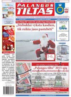 Palangos tilto laikraštis, Data: 2014-12-22, Numeris: 97(1335)