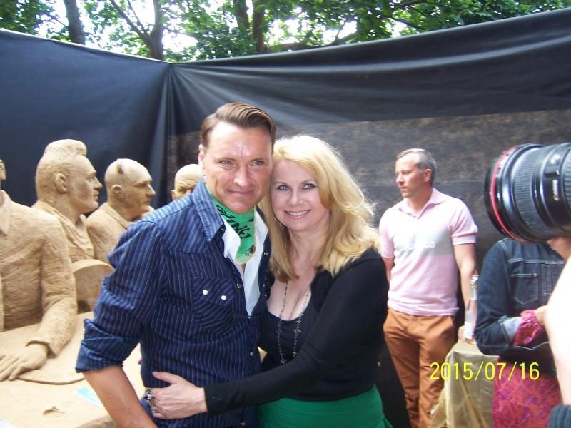Žilvinas Grigaitis su žmona Elle