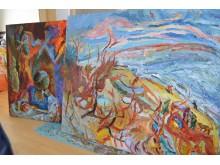 Naujausi menininko darbai, kurie taps naujausios parodos dalimi.