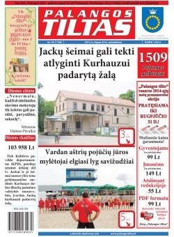 Palangos tilto laikraštis, Data: 2013-07-22, Numeris: 55 (1196)