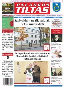 Palangos tilto laikraštis, Data: 2013-10-10, Numeris: 77 (1218)