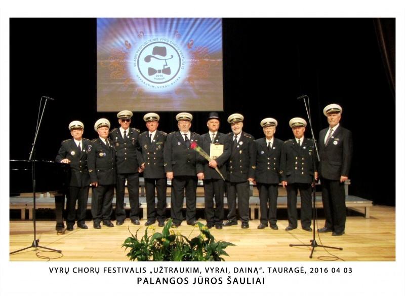 """Palangos """"Jūros šauliai"""" dalyvavo vyrų choro festivalyje"""